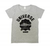 "COSMICLAB × 味園 / ""UNIVERSE"" College-Logo Girls T-sht [Gray]"